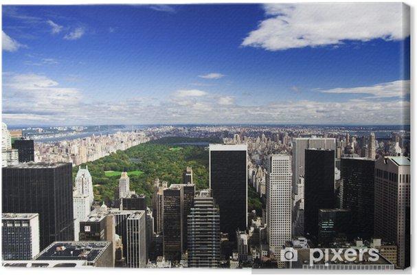 Tableau sur toile Horizon de New York et Central Park - Villes américaines