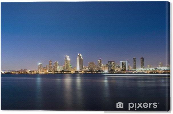 Tableau sur toile Horizon de San Diego la nuit - Amérique