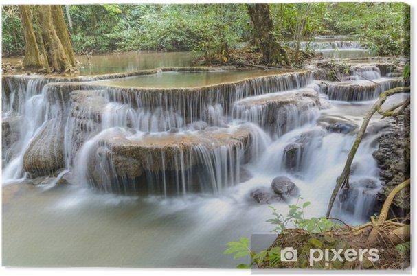 Tableau sur toile Huay Mae Kamin Cascade à la province de Kanchanaburi, Thaïlande - Thèmes