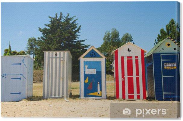 Tableau sur toile Huttes de plage sur l'île d'Oléron en France - Vacances