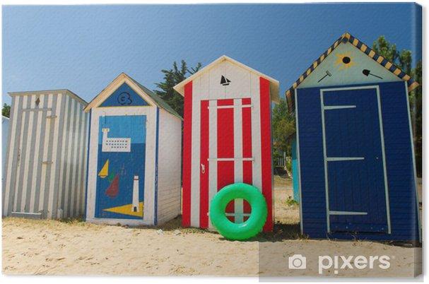 Tableau sur toile Huttes de plage sur l'île d'Oléron en France - Industrie lourde