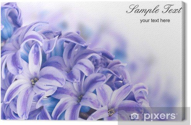 Tableau sur toile Hyacinthes bleues - Fleurs