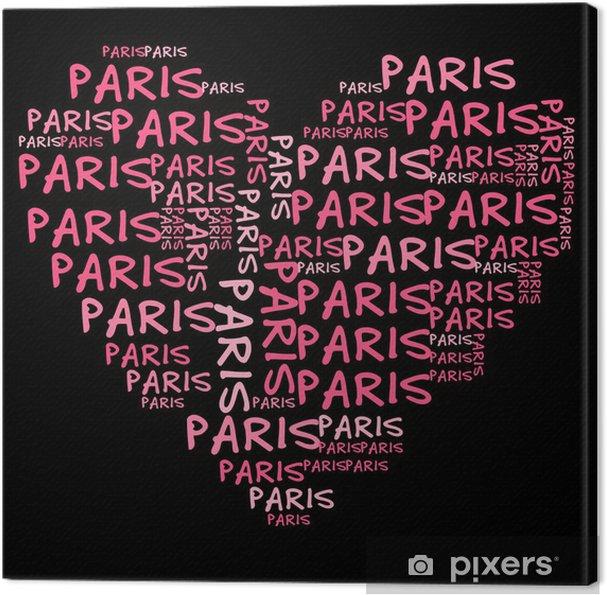 Tableau sur toile Ich liebe Paris | J'aime Paris - Signes et symboles