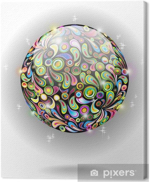 Tableau sur toile Icona Globo Cristallo Colori-colorée Globe de cristal-Vector - Signes et symboles