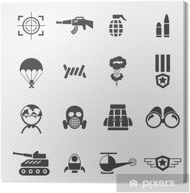Tableau sur toile Icônes militaires et la guerre - Thèmes