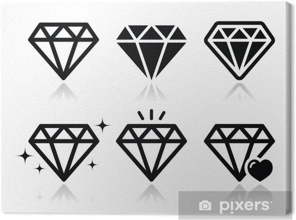 Tableau sur toile Icônes vectorielles Diamond - Signes et symboles