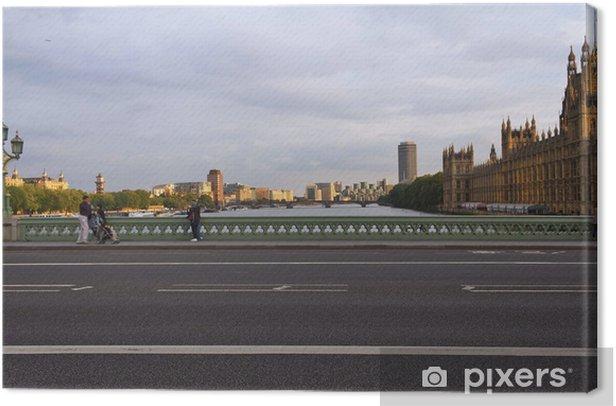 Tableau sur toile Il Tamigi e Westminster - Londres - Villes européennes