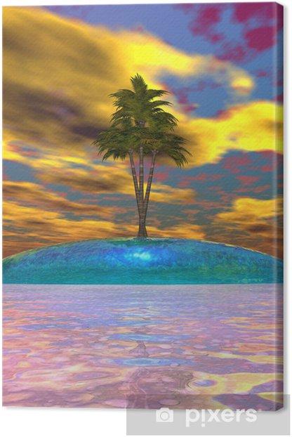 Tableau sur toile Île et la mer bleue - Îles