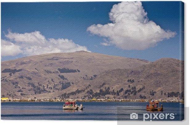 Tableau sur toile Iles flottantes Uros - Lac Titicaca - Thèmes