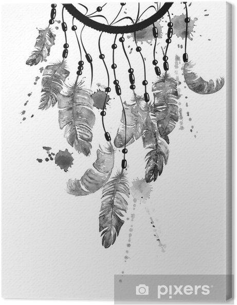 Tableau sur toile Illustration d'aquarelle avec dreamcatcher - Ressources graphiques