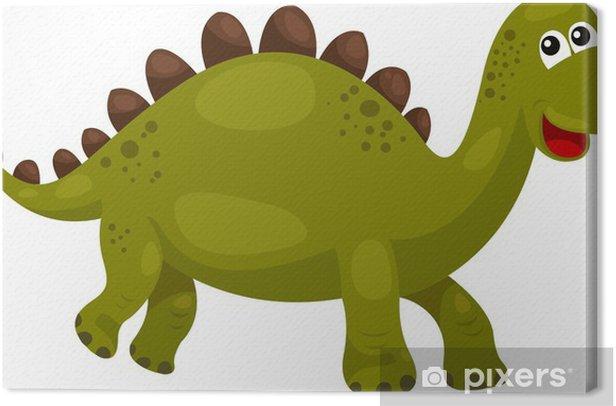 Tableau sur toile Illustration de Dinosaur Stegosaurus - dino - Animaux imaginaires