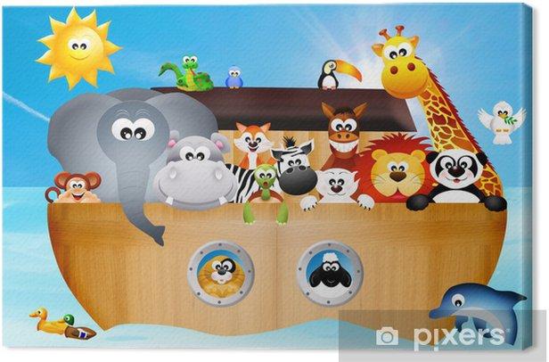 Tableau sur toile Illustration de l'arche de Noé - Pour enfant de 5 ans