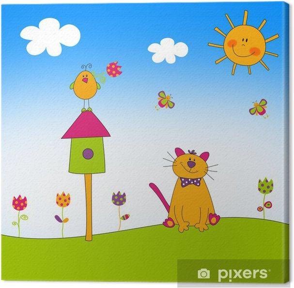 Tableau sur toile Illustration pour les enfants - Education