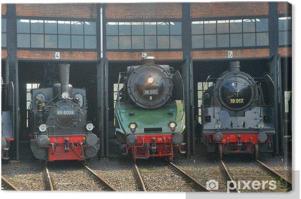 Tableau sur toile Im Ringschuppen - Chemin de fer