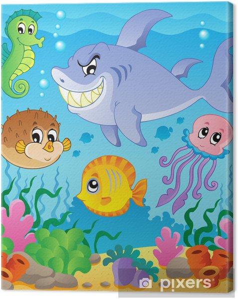 Tableau sur toile Image avec le thème sous-marin 3 - Thèmes