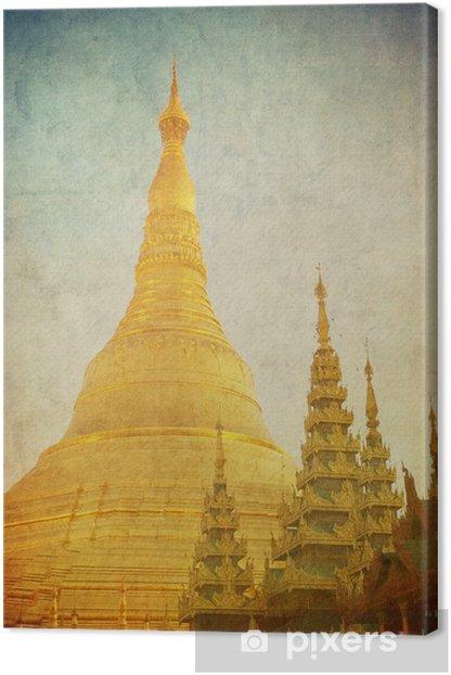 Tableau sur toile Image de cru de pagode Shwedagon, Yangon, au Myanmar. - Asie