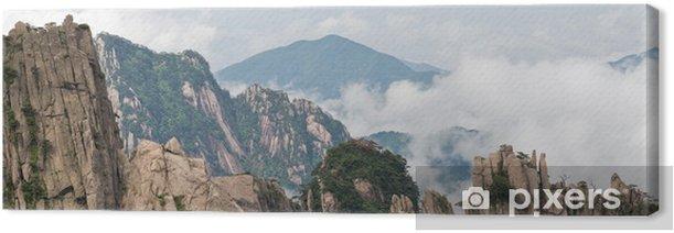 Tableau sur toile Image de Huangshan (montagne jaune) et pin sur le haut - Asie
