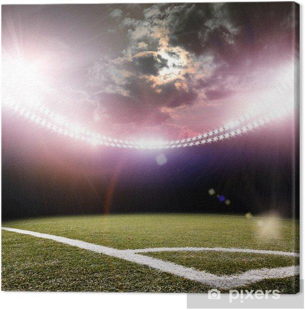 Tableau sur toile Image de stade dans les lumières et les flashs - Arrière plans