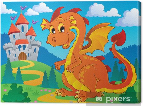 Tableau sur toile Image du thème Dragon 9 - Pour enfant 5 ans
