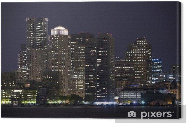 Tableau sur toile Image horizontale du centre-ville de Boston avec de l'eau au premier plan - Amérique