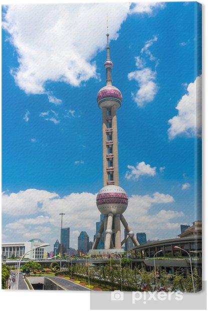 Tableau sur toile Immeubles modernes - Villes d'Asie