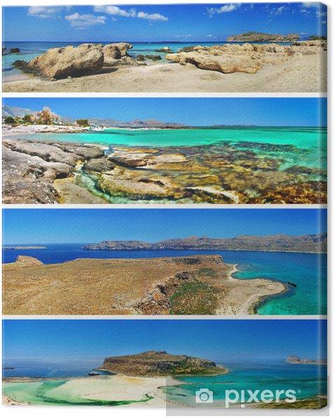 Tableau sur toile Incroyable mer Égée - Crète, Grèce voyage en série - Vacances