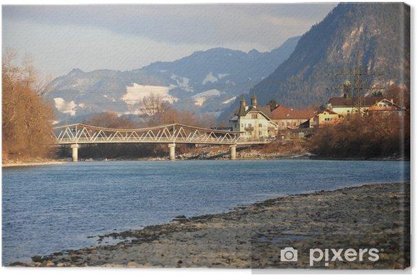 """Tableau sur toile """"Innbrücke à Redwood"""" - Nature et régions sauvages"""