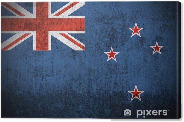 Tableau sur toile Intempéries Drapeau de la Nouvelle-Zélande, le tissu texturé .. -