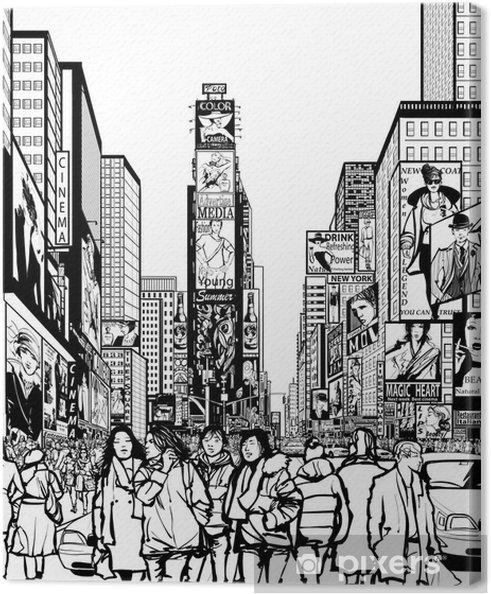 Tableau sur toile Interprétation de Times Square à New York - Infrastructures