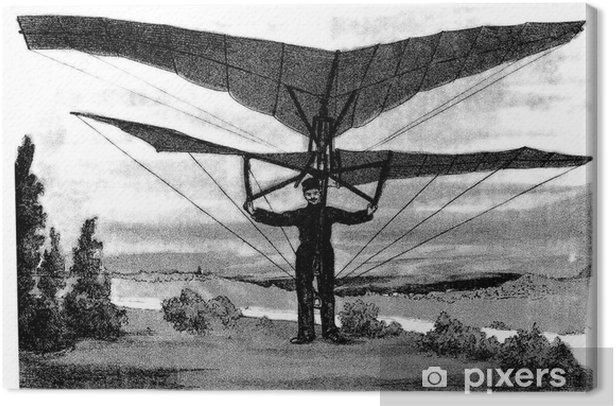 Tableau sur toile Invention: Avion - fin du 19ème siècle - Dans les airs