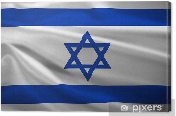 Tableau sur toile Israël drapeau dans le vent - Thèmes