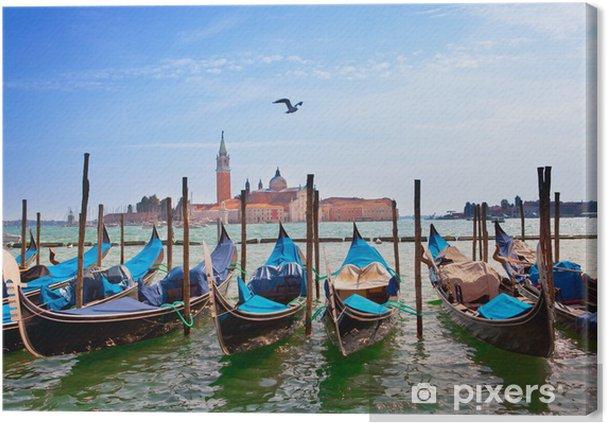 Tableau sur toile Italie. Venise. Gondoles dans le Canal Grande .. - Thèmes