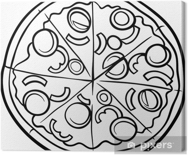 tableau sur toile italien coloriage de dessin anim de pizza pixers nous vivons pour changer. Black Bedroom Furniture Sets. Home Design Ideas