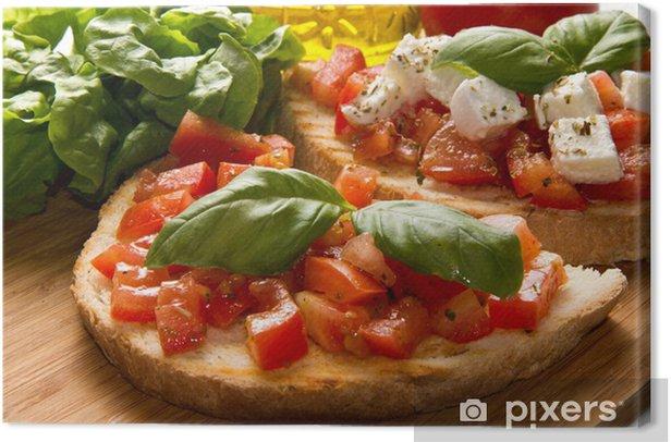 Tableau sur toile Italienne bruschetta - Repas
