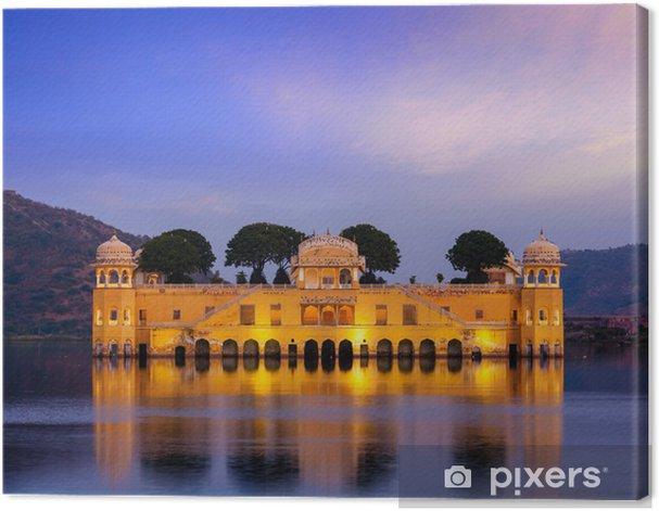 Tableau sur toile Jal Mahal (Palais de l'Eau). Jaipur, Rajasthan, Inde - Vacances