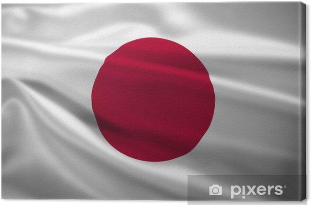 Tableau sur toile Japon drapeau dans le vent - Thèmes