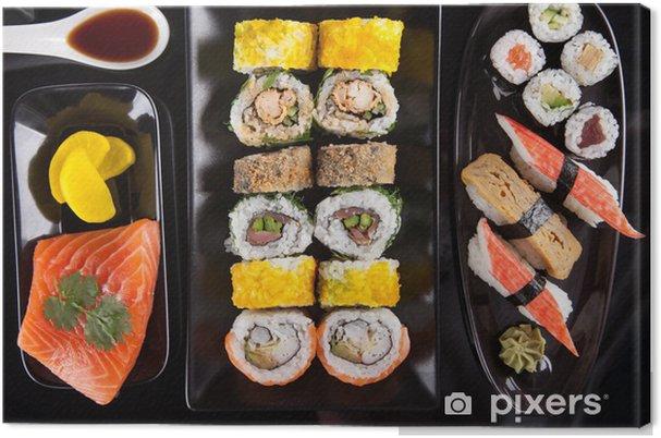 Tableau sur toile Japonais ensemble de fruits de mer sushi - Thèmes