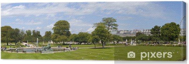 Tableau sur toile Jardin des Tuileries à Paris - Villes européennes