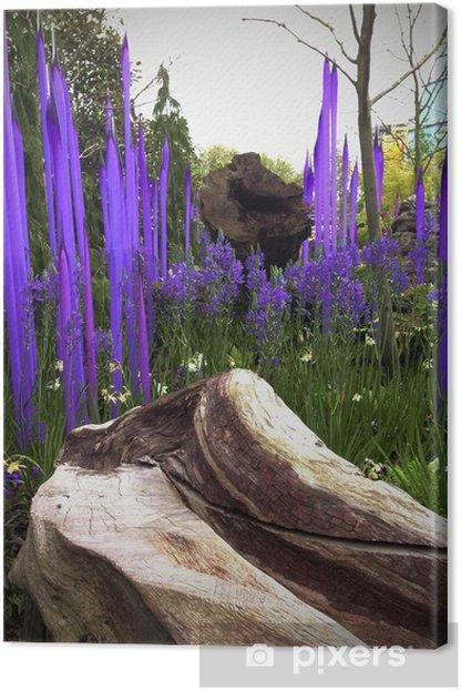 Tableau sur toile Jardin magique. - Paysages urbains