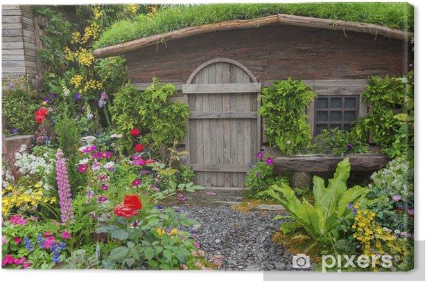 Tableau Sur Toile Jardin Paysage D Une Maison Ancienne Avec Jardin