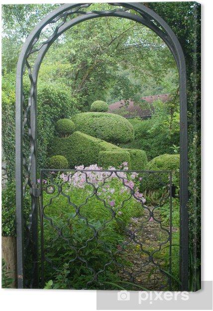 Tableau sur toile Jardin romantique à l\'anglaise