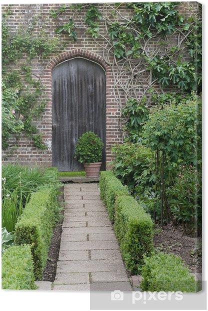 Tableau sur toile Jardin secret. Le jardin anglais chemin et la porte - Maisons et jardins