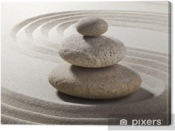Tableau sur toile Jardin Zen with sable et galets - Destin