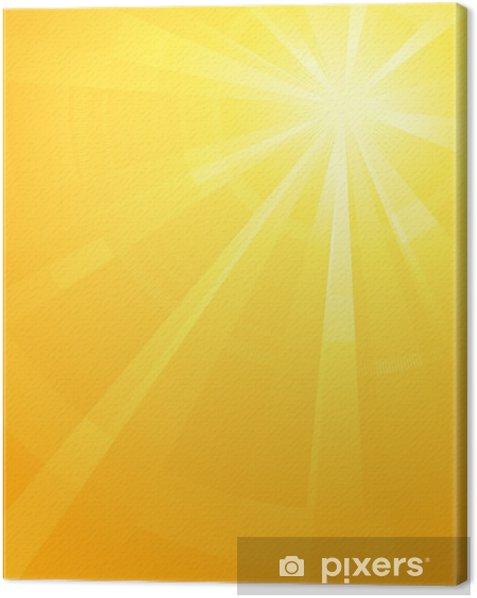 Tableau sur toile Jaune Orange éclatement de la lumière du soleil asymétrique - Arrière plans