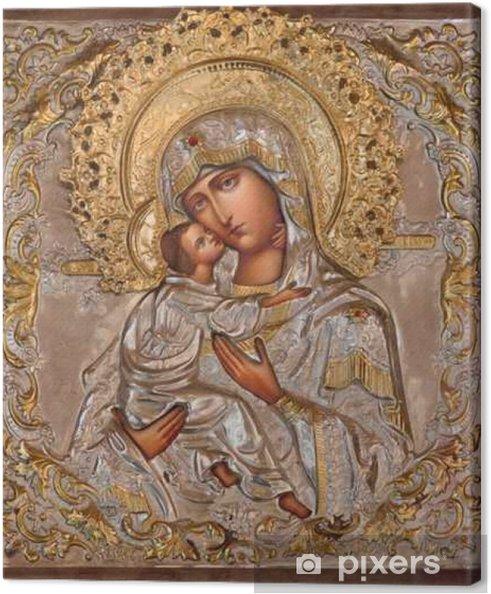 Tableau sur toile Jerusalem - Madonna dans l'église orthodoxe russe de Marie de Magdala - Bâtiments et architecture