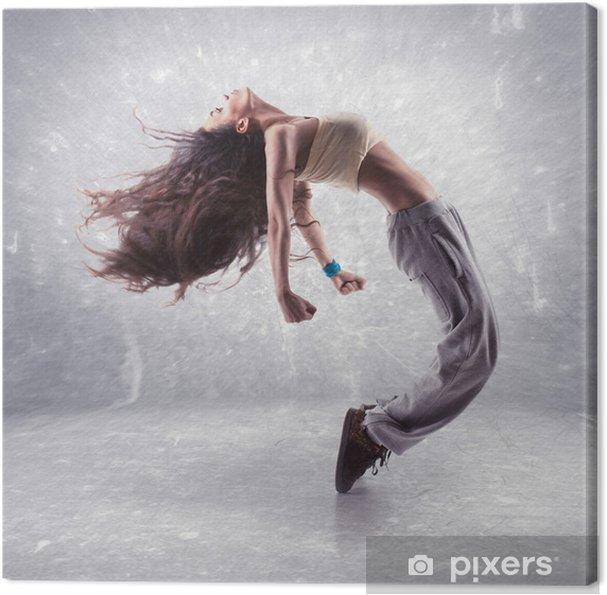 Tableau sur toile Jeune femme danseuse hip-hop - Thèmes