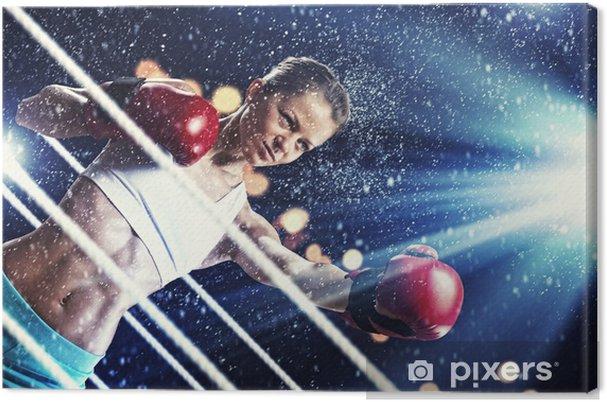 Tableau sur toile Jeune femme de boxeur - Thèmes