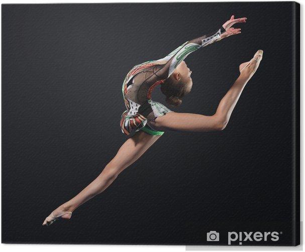 Tableau sur toile Jeune femme posant en maillot de gymnaste - Thèmes