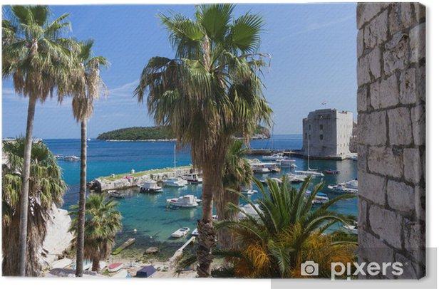 Tableau sur toile John forteresse, Dubrovnik, Croatie - Europe