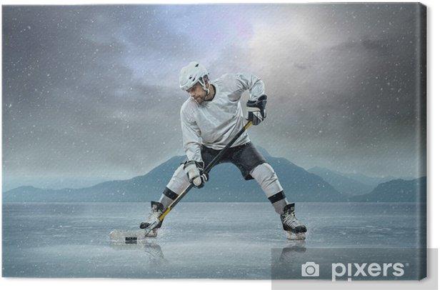 Tableau sur toile Joueur de hockey sur glace sur la glace - Sports individuels